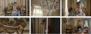 Continuity editing aims to mimick the way we perceive things. this sequence places us in the shoes of Marie Antoinette (2006) by alternating close-up shots of the viewed objects and her reaction to them.